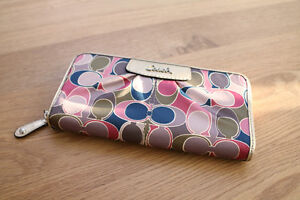 Coach Wallet - Authentic - Satin Scarf Print - Brand New!