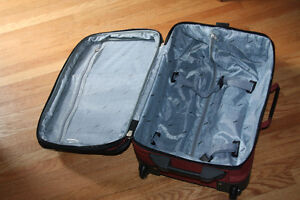 Via Rail Carry on luggage in burnt orange purchased at the Bay Kitchener / Waterloo Kitchener Area image 2