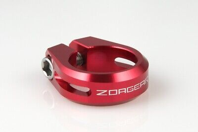New CNC ZOAGEAR Road MTB Bike Bicycle Seatpost Seat Post Clamp 30mm Silver