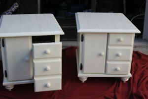 Cottage style distressed coffee tables. Off white....
