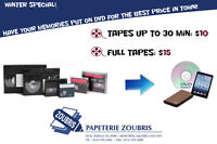 Walk-in-Store- transfer your old movie tapes
