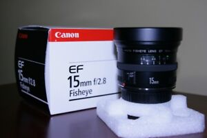 CANON 15mm f/2.8 FISHEYE LENS