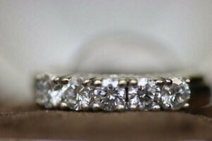 18k Yellow + White Gold Lady's Diamond Anniversary Band (#15563)