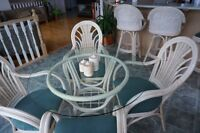 Beautiful Rattan Wicker Table and Chairs
