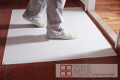 (Sticky Tacmat / Tack Mat Clean Room Mat Self Adhesive  - 30 sheet in pack WHITE )