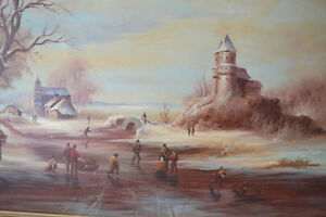 VINTAGE ORIGINAL OIL ON CANVAS LARGE PAINTING 42 X 31 inches Gatineau Ottawa / Gatineau Area image 3