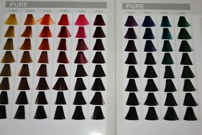 Goldwell Farbkarte für Elumen Haarfarbe