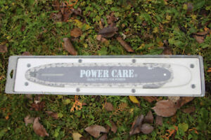 "POWER CARE 14"" chainsaw bar and chain"