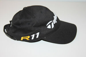 TAYLORMADE TOUR HEADWEAR R11 LOW RISE BLACK ADJUSTABLE CAP
