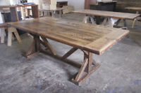 RUSTIC  HARVEST  TABLES