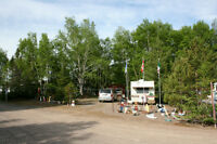 Travel Trailer & Associated Camping Site Buildings+