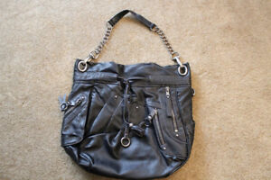 Nine West Black over the Shouler Purse