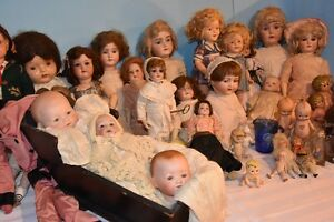 Antique dolll collection - AM, S&H, Shirley Temple and more