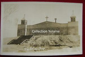 Carte postale ancienne Val D'Or Abitibi 1940? Église