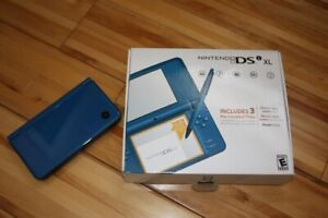 Nintendo DSi XL (Launch Edition Blue) including over 80 games