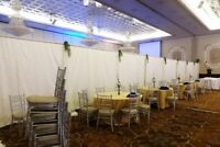 Dividers pipes drapes booths large banners