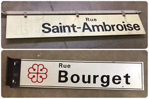 Vintage Double Sided Street Signs