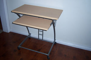 Mini Computer Desk with keyboard tray