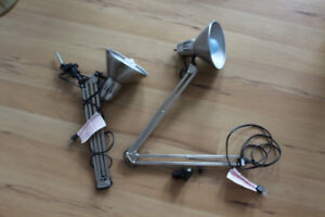 Two task lamps (balanced-arm lamp)