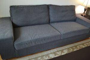 EXCELLENT Condition **IKEA** Burbank Charcoal Grey Couch &Tables