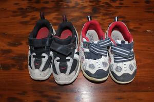 Two Pair of Size 8 Running Shoes - Boy or Girl London Ontario image 1