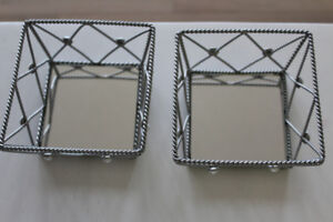 """"""" PARTY LITE """" DECORATIVE SMALL TRAYS"""
