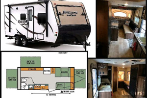 2017 KZ Escape hybrid trailer with hitch and backup camera +more