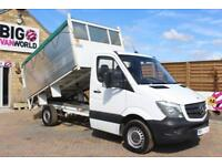 2015 MERCEDES SPRINTER 316 CDI MWB SINGLE CAB HIGH SIDED ALLOY TIPPER TIPPER DIE