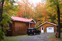 Chalet 4 saisons + garage isolé= Retraite au cœur des Appalaches
