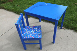 Children's table and chair from IKEA