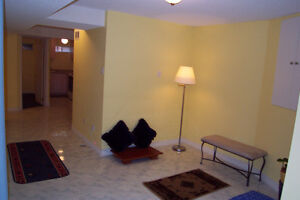 GORGEOUS & SPACIOUS 1 BEDROOM SEMI-FURNISHED BASEMENT APARTMENT