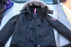 Black with pink Nozie winter jacket London Ontario image 1