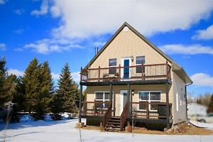 Chalet style 3 bedroom home at Bear Hills Lake south of Edmonton