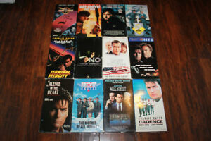 12 Charlie Sheen VHS Movies $5 for all