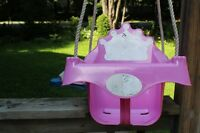 Baby swing for outdoor swing set