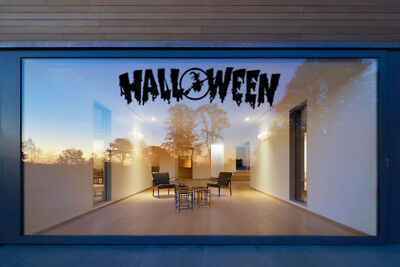 Halloween Text Vinyl Window Stickers Window Wall Decals Home Decorations Witch (Home Decorations Halloween)
