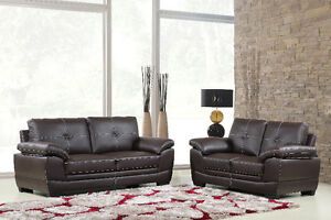 CRAZY SALES FOR REAL LEATHER 2PC SOFA SET JUST $1499