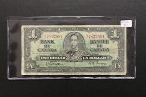 Canada 1937 1$ Bank Note