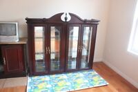 Dining table display cabinet-Moving Sale