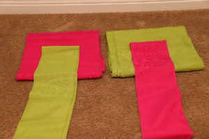 Pink / Green Chair Ties & Table Runners