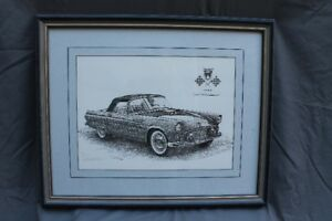 1955 Ford Thunderbird Print by Goran Skalin - Numbered 109/975