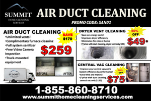 DUCT CLEANING UNLIMITED VENTS INC FURNACE CLEANING & SANITIZER!