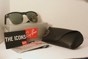 Ray Ban Clubmaster Oversize - Mat Black and Gold