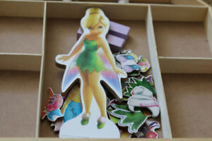 Tinkerbell Magnetic Dress-Up Wooden Doll Pretend Playset