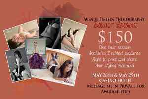 Boudoir Sessions at the Casino Hotel May 28-29th!