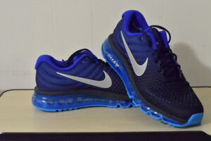 2017 NIKE AIR MAX BLUE/BLACK Brand new Never worn, Open Box