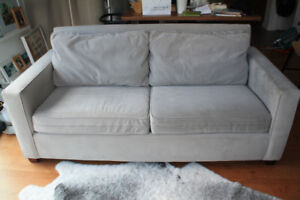 Dove Grey West Elm 3-Seater Couch - $750