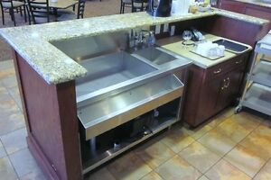 Bar with Granite Counter & Hutch - Beautiful - Nice Pieces Cambridge Kitchener Area image 5