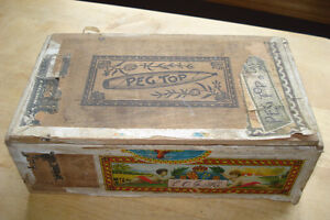 ANTIQUE PEG TOP 25 CIGARS EMPTY BOX