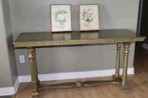 Antique Library Table (desk / kitchen island / sofa table etc )